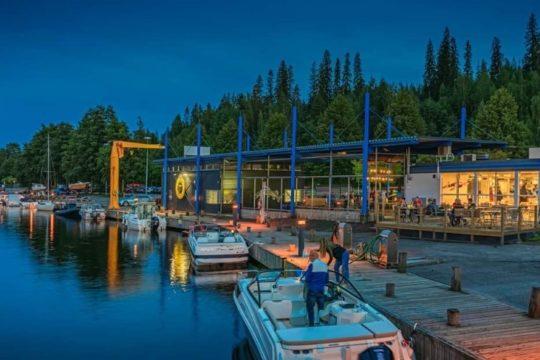 Ravintola Nosturi Teivaan satama Lahti Restaurant Nosturi Teivaa Harbour Lahti