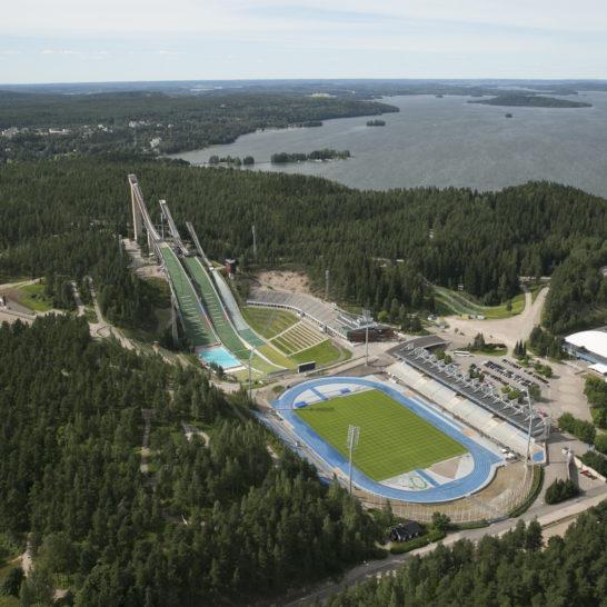 Lahden Urheilukeskus ilmakuva Suurmäki Lahti