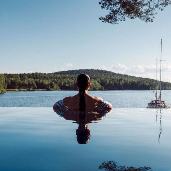 Ilola Inn luksusmajoitus hotelli infinity pool rantaravintola Päijänne Sysmä luxury accommodation by lake Päijänne