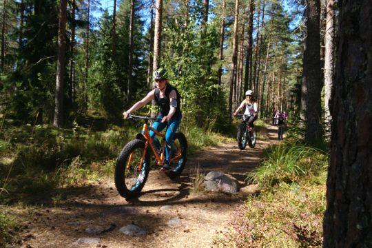 Kitetirri efatbike maastopyörä Salpausselkä nature trail Lahti