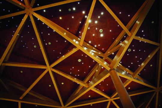 Sibeliustalo Metsähallin tähtitaivas Sibelius Hall