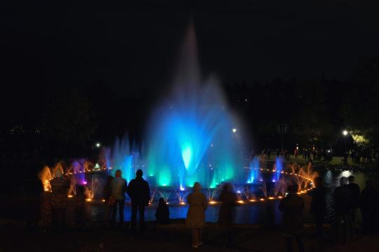 Vesiurut Pikku-Vesijärven puisto Lahti Musical Fountain