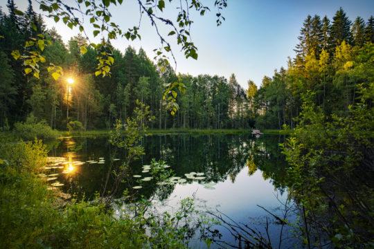 Häränsilmä lampi Lahden Urheilukeskuksen takana suppalampi