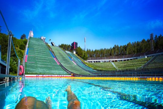 Lahden Maauimala Urheilukeskus Suurmäen näköalatorni Lahti Sports Centre Ski Jump Tower sightseeing platform