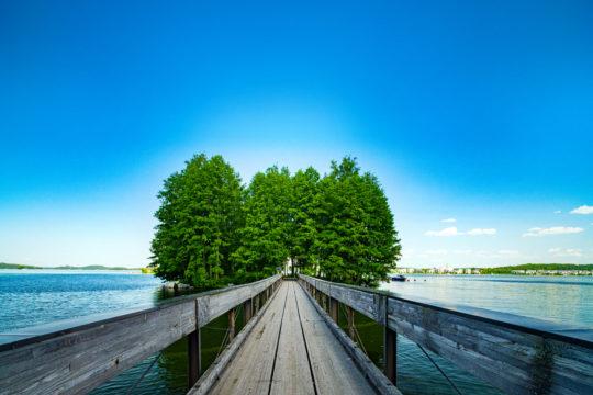 Myllysaari island Lahti Vesijärvi silta bridge