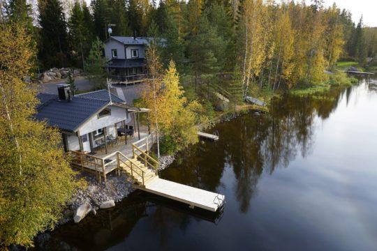 Yli-Kaitala Resort vuokramökki lomamökki järvi rantasauna Iitti rental cottage lake sauna