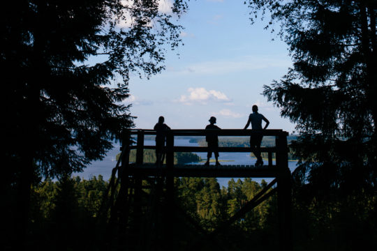 Aurinkovuori Aurinko-Ilves-reitti Päijänne Asikkala maisematorni luontopolku