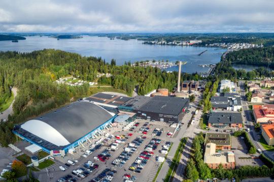 Lahden Messukeskus ilmakuva Lahti Fair Centre panorama