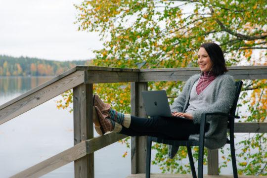 Etätyö Yli-Kaitala working outside