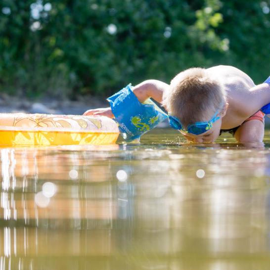 Pieni uimari Juotavan hyvä Päijänne Asikkala