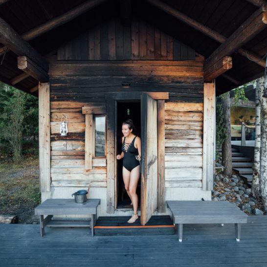 Lehmonkärki savusauna smoke sauna Asikkala Lake Päijänne