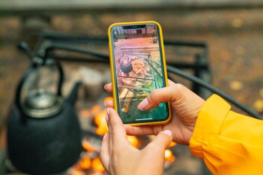 Yli-Kaitala Resort nuotio nokipannukahvit fireplace