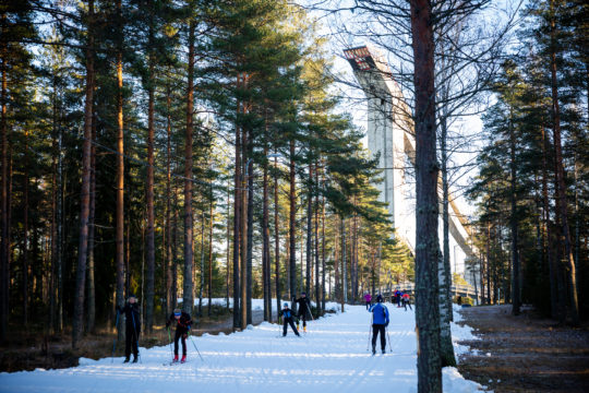 Ensilumenlatu Lahti 2018 First snow ski trail