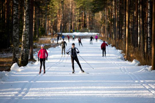 Ensilumenlatu Lahti 2019 First snow ski trail