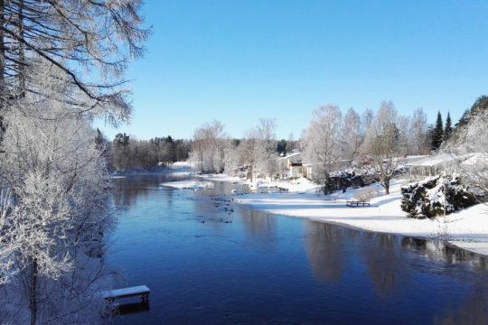 Tainionvirta talvi river Hartola Kuninkaanpolku