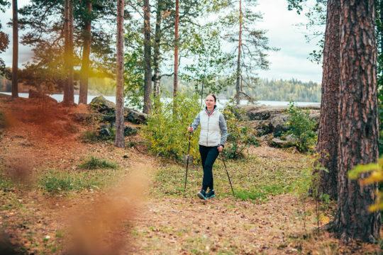 Pajulahti sauvakävely Nordic walking