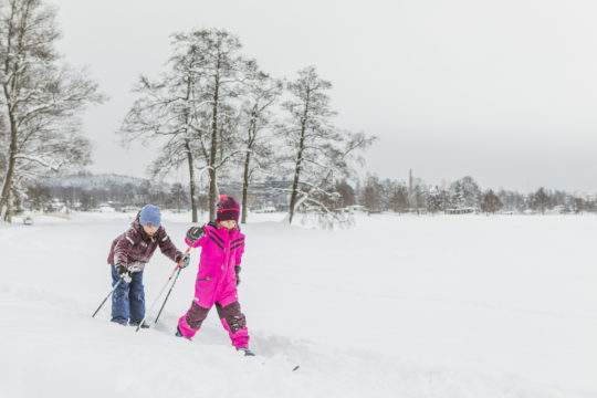 Mukkula hiihto kids skiing