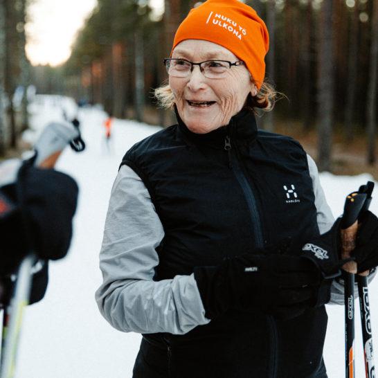 Ensilumenlatu Lahti first snow skiing track