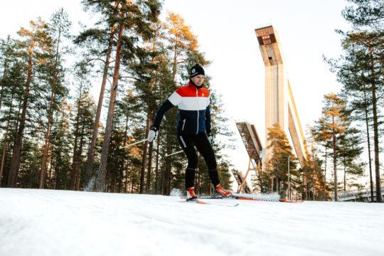 Hiihtoa Salpausselällä nordic skiing