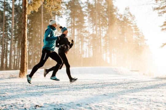 Talvijuoksu Salpausselällä winter running