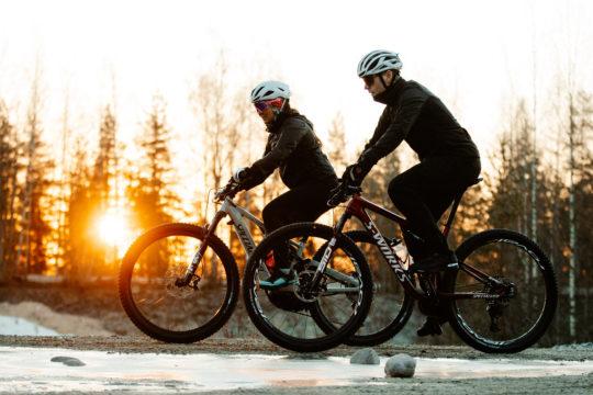 Pyöräilyä Salpausselällä winter cycling