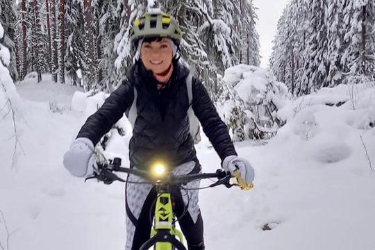Kitetirri e-fatbike talvipyöräily Salpausselkä Lahti