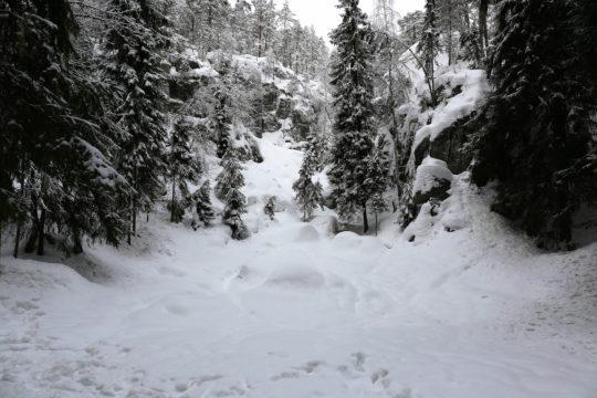 Perunpesä talvi lumi Hollola