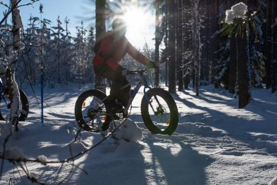 Vierumäki winter biking