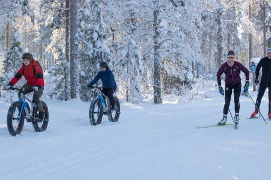 Vierumäki talvi hiihto pyöräily
