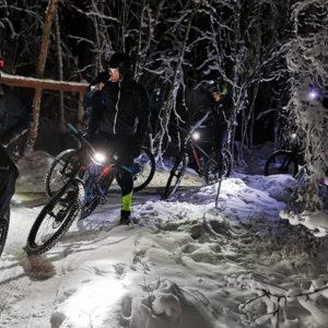 Talvipyöräilyä Salpausselällä winter cycling