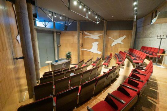 Voiton auditorio Hiihtomuseolla