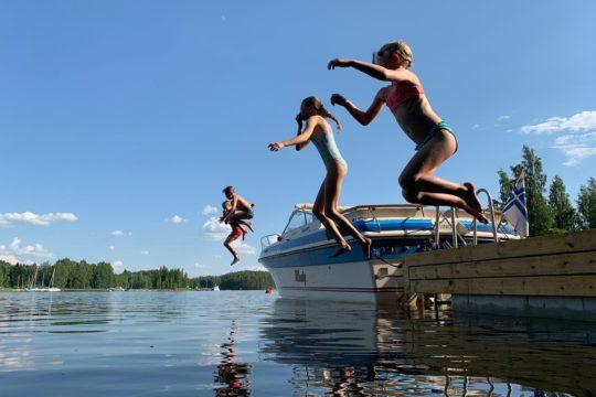 Lasten uimahyppy water fun